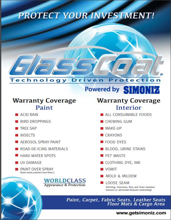 Simoniz GlassCoat – Dealer Performance Services